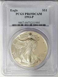 1993 Certified Proof Silver Eagle PR69 PCGS