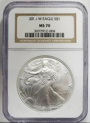 2006 W Certified Silver Eagle MS70 NGC