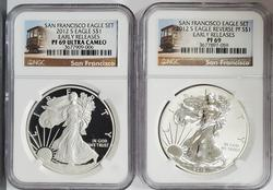 Certified 2012 Silver Eagle 2pc Proof Set PF69 NGC