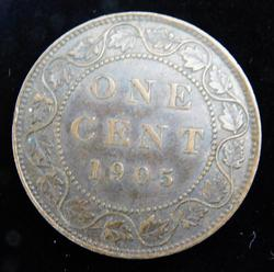 1905 Canada Large One Cent Coin