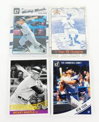 4 Mickey Mantle Baseball Cards