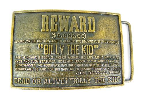 Vintage Billy The Kid Belt Buckle