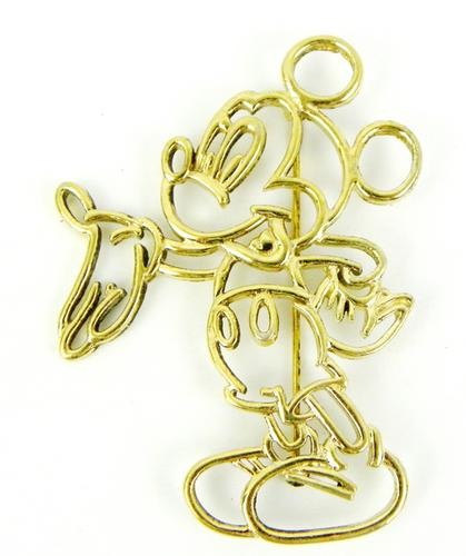 Vintage Sterling Van Dell Mickey Mouse Large Pin