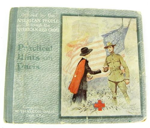 1919 Red Cross Military Paris Guide Book with Maps