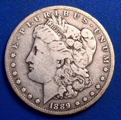 1889-CC Morgan Silver Dollar, Circulated
