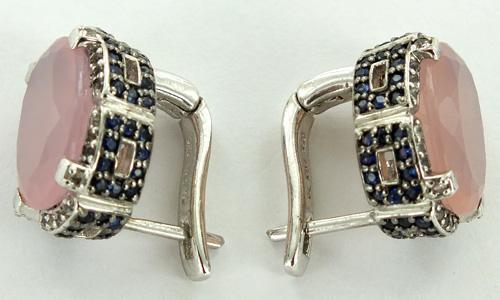 Silver Earrings and Gemstones