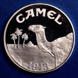 1993 1 OZ. 999 SILVER JOE CAMEL ROUND