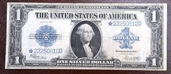 1923 $1.00 SILVER CERT STAR NOTE FR# 237 AVERAGE CIRC.