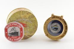 2012 Niue $2 R.M.S. Titanic 1 T Oz .999 Silver Colored Proof Box & COA