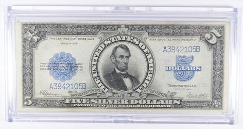 1923 $5 Port Hole Silver Certificate Large Size Note