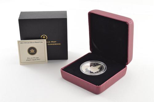 2012 Canada 50 Cents - R.M.S. Titanic Silver Plated Coin - Box & COA