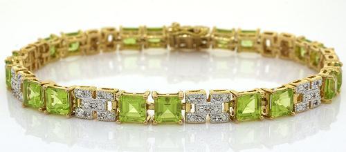 Sparkling Peridot & Topaz Sterling Silver Bracelet