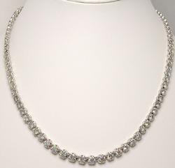14.78 Diamond Tennis Necklace, Platinum