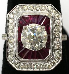 Wow! Ruby & Diamond Ring, 14KT