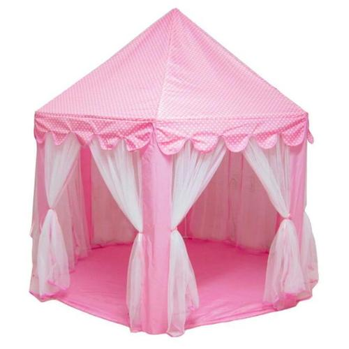 Pink Girls Castle Play Tent