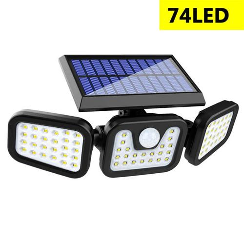 3 Modes Solar Wall Light Triple Head Sensor Light
