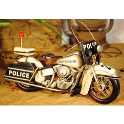 Police Motorcycle Collectible Artwork