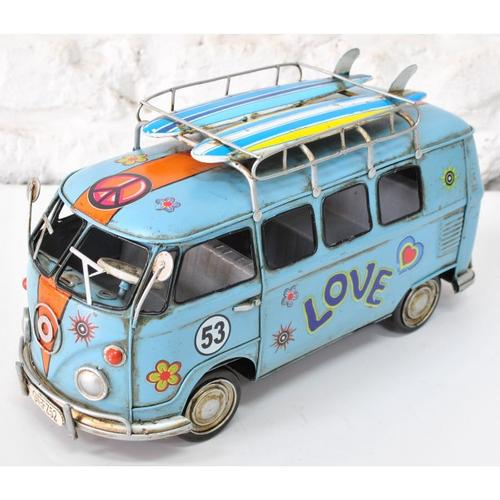 1966 Volkswagen Deluxe Mini Bus Classic Artwork Sculpture