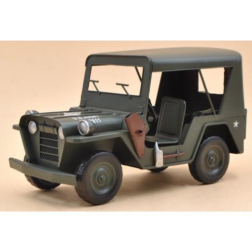1941 Army Jeep Retro Antique Military Jeep Model Car