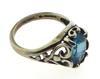 Vintage Sterling Silver Blue Topaz Ring