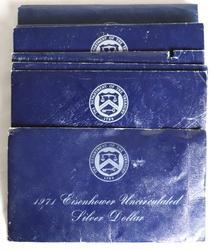 9 1971 S -1973 S Ike Silver Blue Dollar Uncs