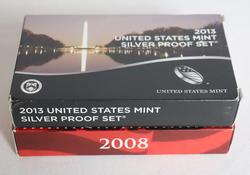 2008 & 2013 US Silver Proof Sets