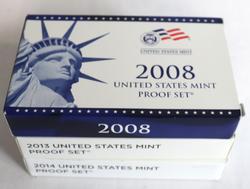 2008 2013 & 2014 US Proof Sets