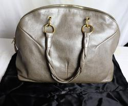 YSL Calypso Large Pearled Leather Purse