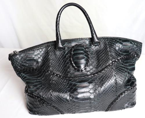 Designer Bottega Veneta Large Tote Python