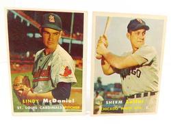2 Topps 1957 Baseball Cards