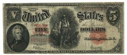 Nicer Series of 1907 Large Size $5 Woodchopper Note