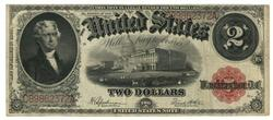 Desirable 1917 Series Large Size $2 Legal Tender Note
