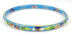 Vintage Chinese Cloisonne Bangle Bracelet