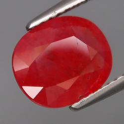 Gorgeous red orange 2.69ct Imperial Sapphire