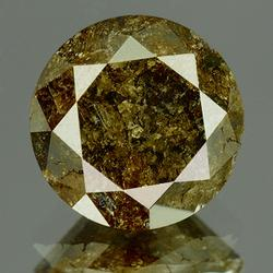 Large 2.44ct untreated black and brown Diamond