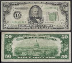 $50 1934-A FRN New York District Circulated