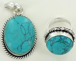 Silver and Natural Stone