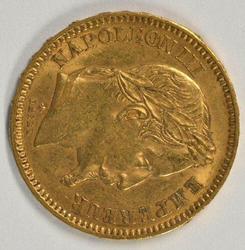 Super 1861-A France Napoleon III 20 Francs Gold Piece