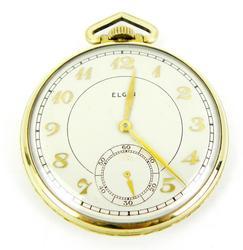 Vintage Elgin Gold-Filled Pocket Watch, Runs