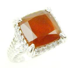 Judith Ripka Sterling Carnelian Ring, Size 8