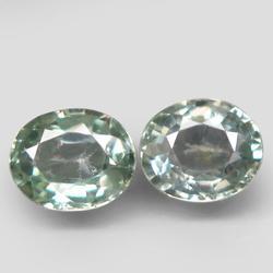 Excellent 1.32ct pair of green Songean Sapphires