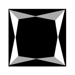 Substantial 2.75ct unheated princess cut black Diamond