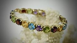 Vibrantly Colored Multi-Stone 14K Bracelet
