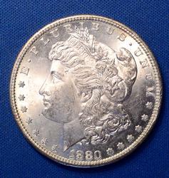 BU 1880-S Morgan Dollar