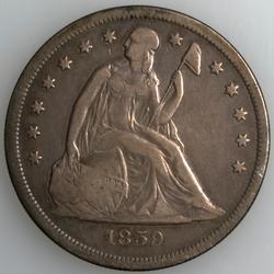 1859 O  Seated Dollar