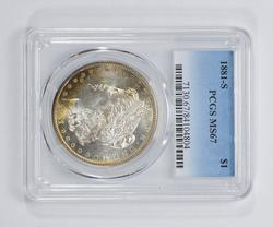 MS67 1881-S Morgan Silver Dollar - PCGS Graded