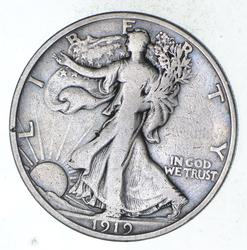 1919-S Walking Liberty Silver Half Dollar - Circulated