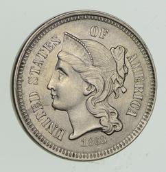 1868 Nickel Three-Cent Piece