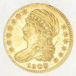 1809 $5.00 Draped Bust To Left Gold Half Eagle