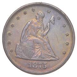1875 Seated Liberty Twenty-Cent Piece - TONED